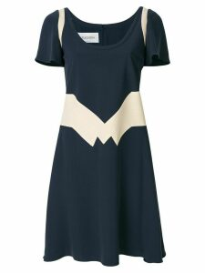 Valentino geometric panel dress - Blue