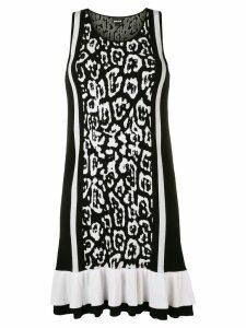 Just Cavalli leopard print mini dress - Black