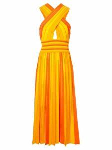 Carolina Herrera striped halterneck dress - Orange