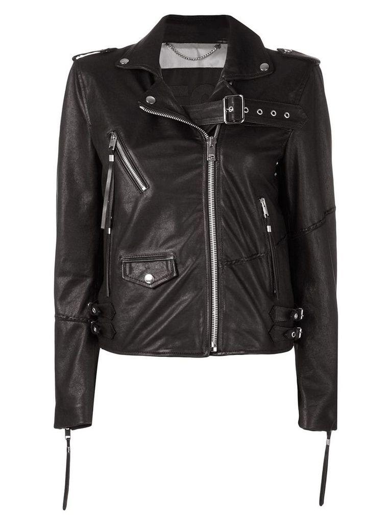 Diesel embellished biker jacket - Black