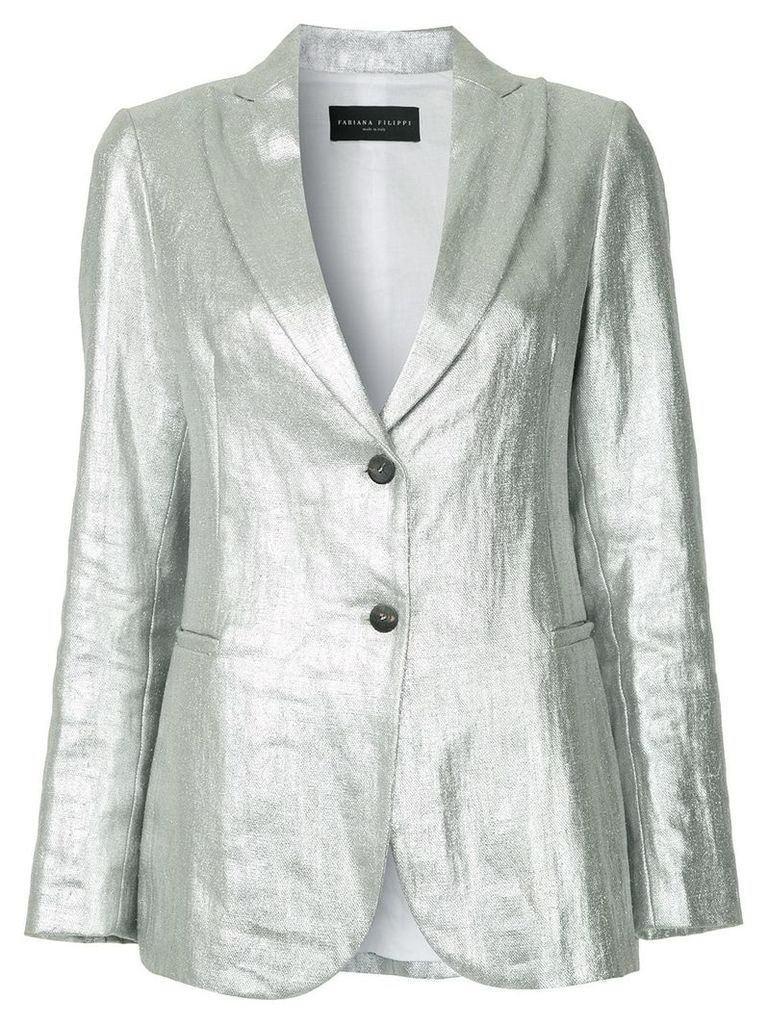 Fabiana Filippi lightweight tailored blazer - Metallic