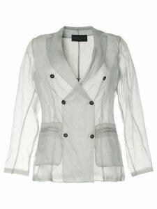 Fabiana Filippi sheer double breasted blazer - Grey
