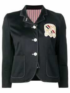 Thom Browne Patch Pockets Grosgrain Sport Coat - Blue