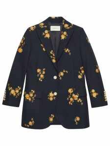 Gucci Floral fil coupé jacket - Blue