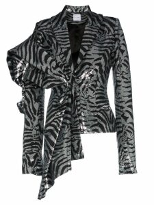 Halpern silk zebra-stripe sequinned jacket - Black