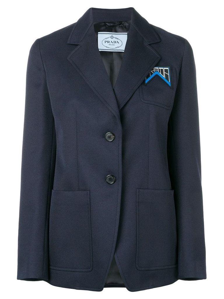Prada classic logo blazer - Blue