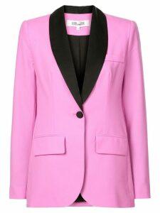 Dvf Diane Von Furstenberg contrast fitted blazer - Pink