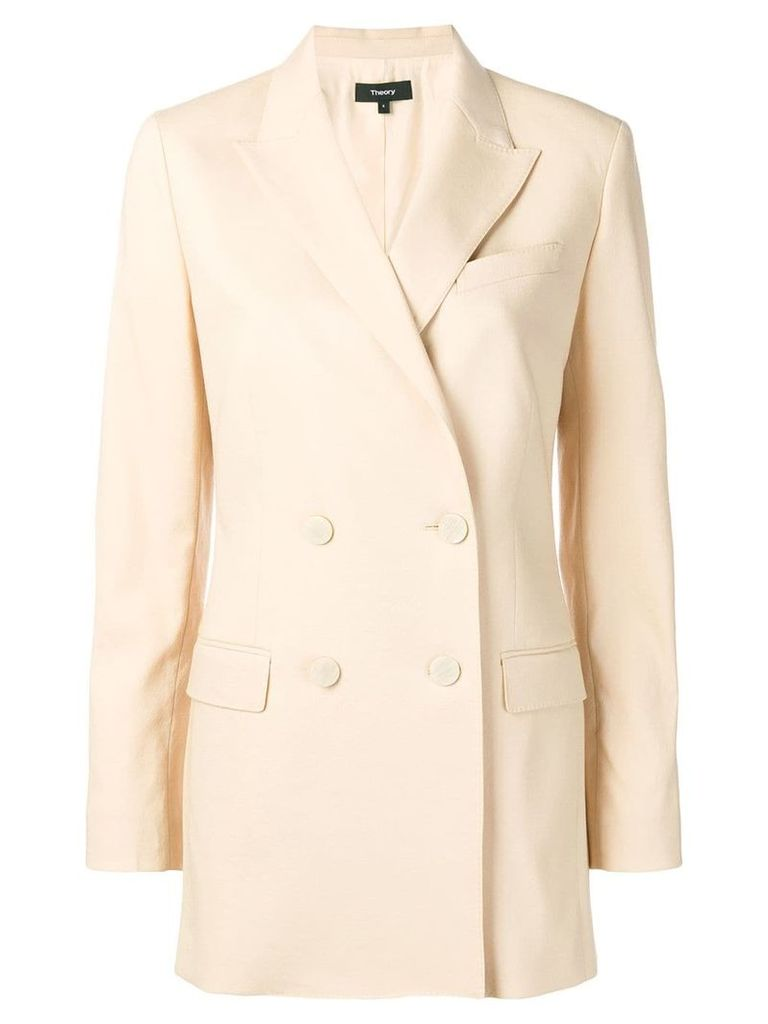 Theory double breasted blazer - Neutrals
