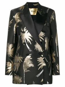 MSGM metallic palm tree blazer - Black