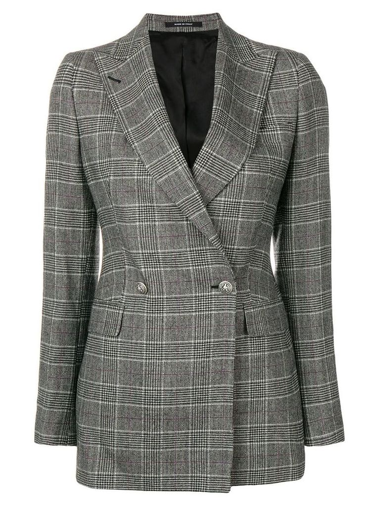 Tagliatore glen plaid blazer - Black