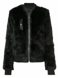 Barbara Bui fox fur bomber jacket - Black