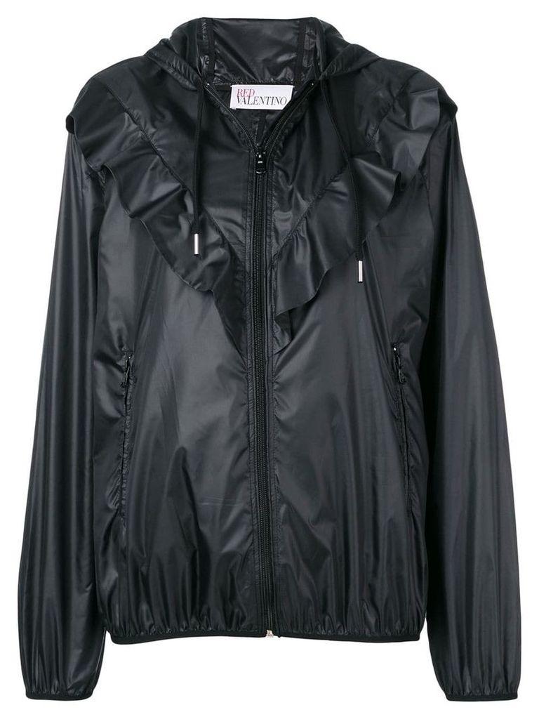 Red Valentino ruffle trim lightweight jacket - Black