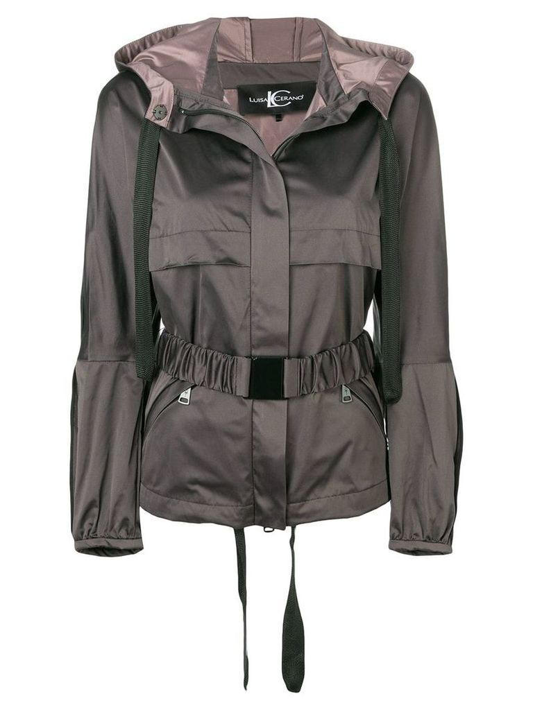Luisa Cerano belted jacket - Grey