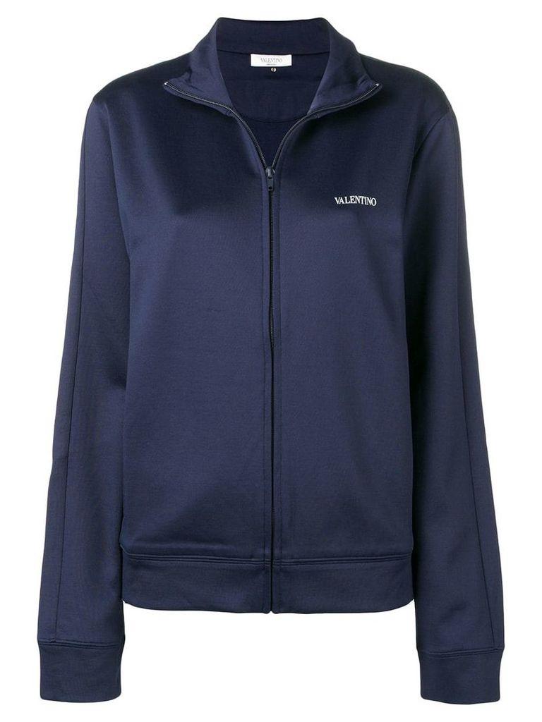 Valentino logo print jacket - Blue