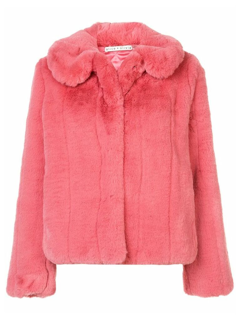 Alice+Olivia faux fur jacket - Pink