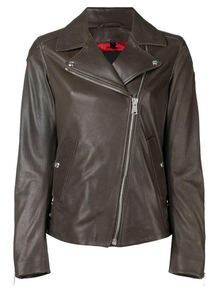 Belstaff fitted biker jacket - Brown