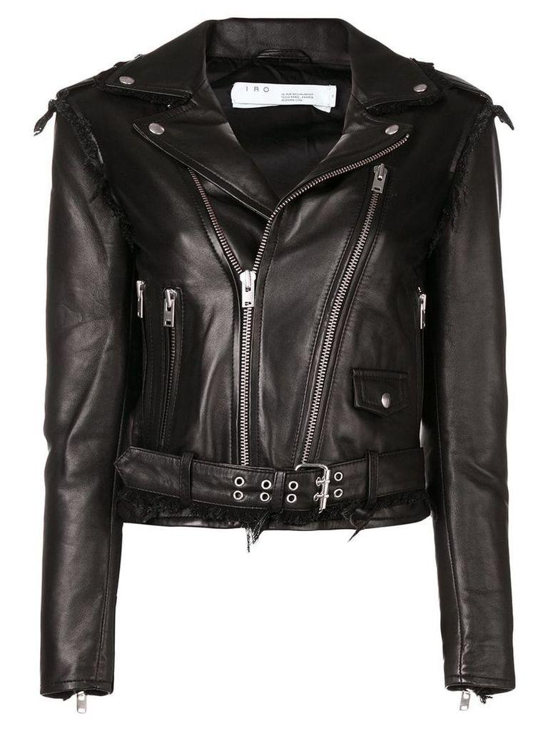 Iro distressed detail jacket - Black