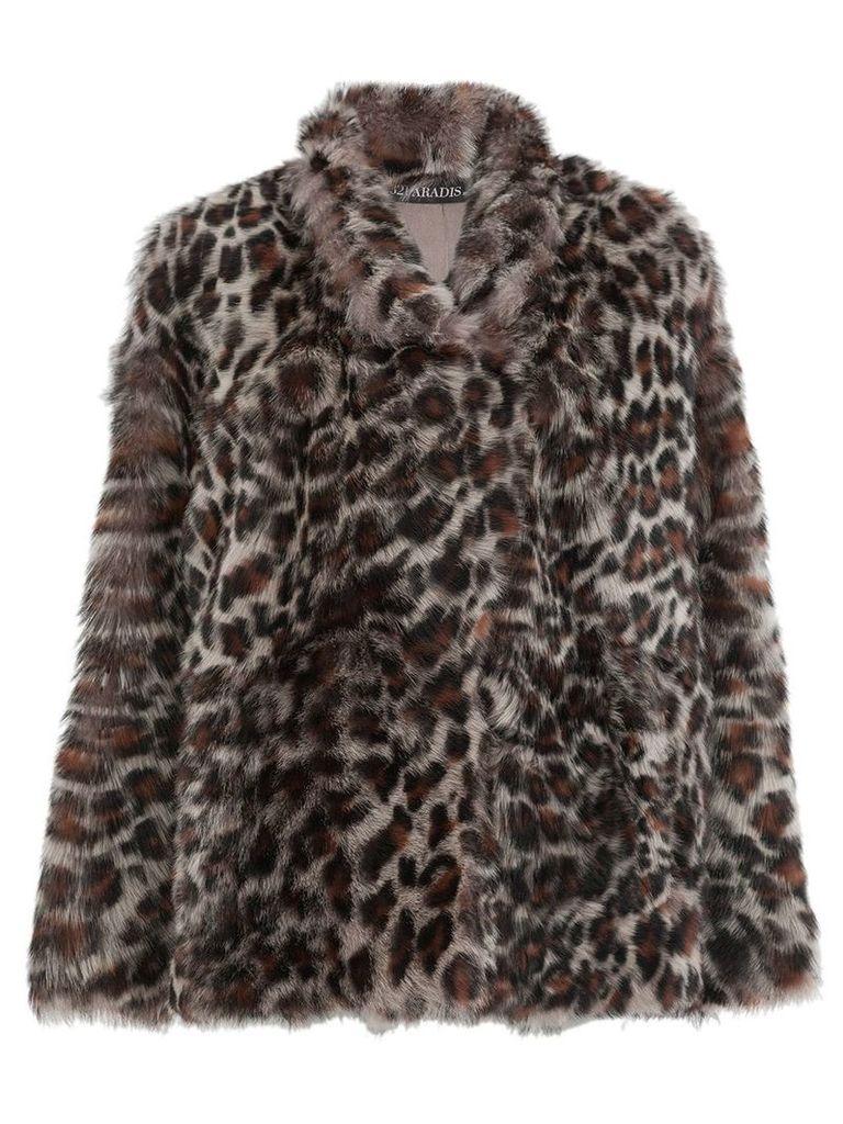 32 Paradis Sprung Frères leopard-print jacket - Brown