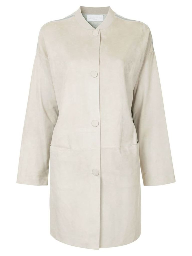 Fabiana Filippi longline button jacket - Grey
