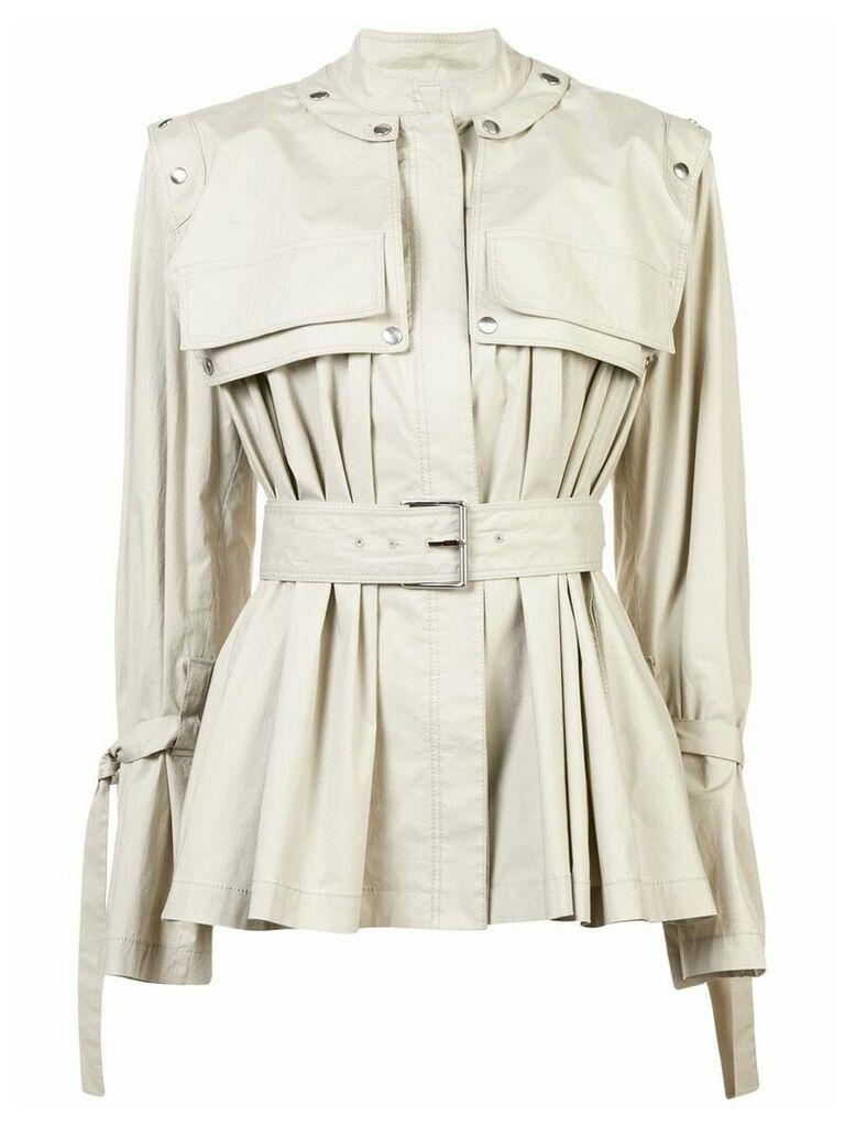 Proenza Schouler Belted Trench Jacket - Grey