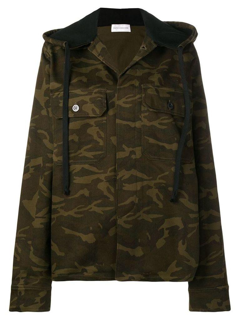 Faith Connexion hooded military jacket - Green