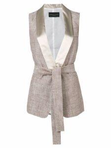 Fabiana Filippi shawl lapel waistcoat - Neutrals