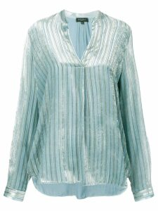 Antonelli pinstripe blouse - Blue