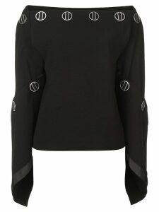 Dion Lee spiral sleeve top - Black
