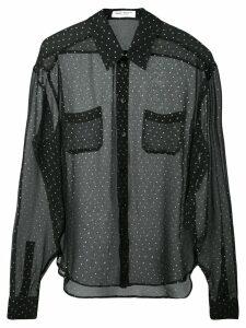 Saint Laurent polka dot shirt - Black