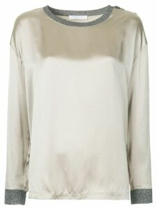 Fabiana Filippi shimmer contrast details blouse - Metallic
