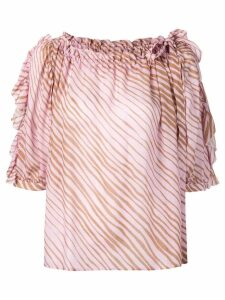 See By Chloé ruffle trimmed blouse - Pink