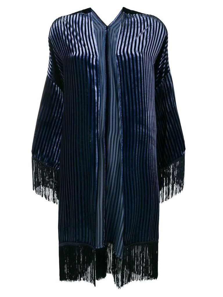 Antonelli striped velvet jacket - Blue