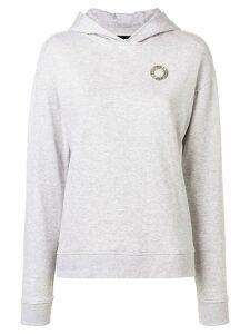 Karl Lagerfeld ruffled hoodie - Grey