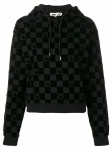 McQ Alexander McQueen checked pull-over hoodie - Black
