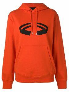 Helmut Lang printed hoodie - Orange