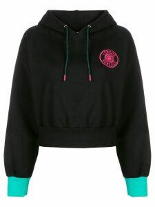 Versus embroidered logo hoodie - Black