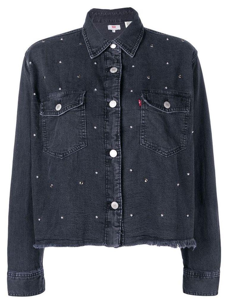 Levi's cropped denim shirt - Black