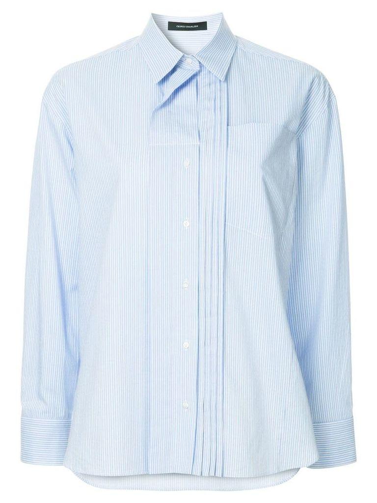 Cédric Charlier layered collar shirt - Blue