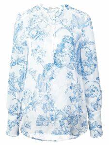 Oscar de la Renta floral print shirt - White