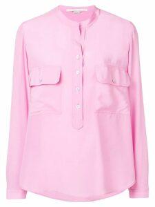 Stella McCartney draped collarless blouse - Pink