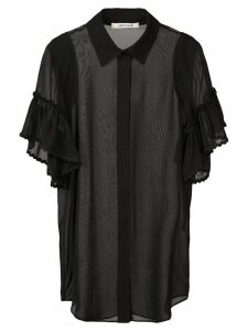 Roberto Cavalli sheer silk shirt - Black