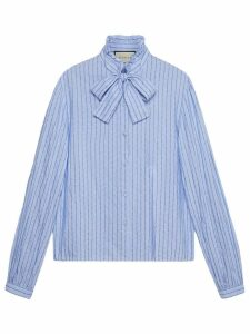 Gucci Cotton shirt with Gucci pinstripe - Blue