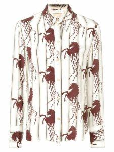 Chloé horse-print shirt - White