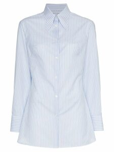 Wright Le Chapelain Pinstripe Shirt - Blue
