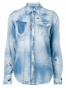 Dsquared2 ripped denim shirt - Blue
