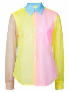 Comme Des Garçons colour block shirt - Pink