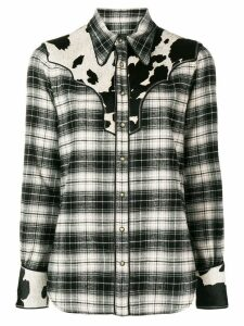 Dsquared2 check print cowboy shirt - Black