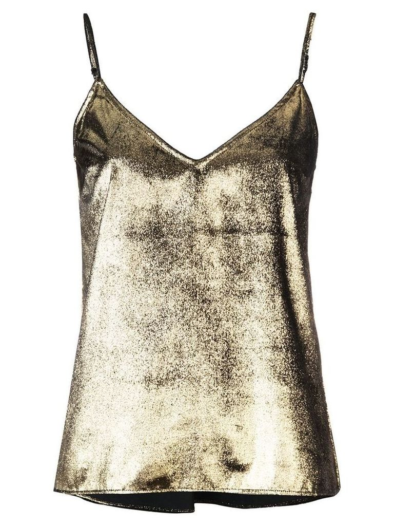 FRAME metallic camisole top - Gold