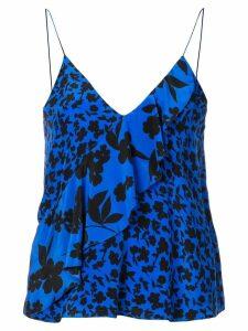 Alice+Olivia Lavonia asymmetric draped top - Blue