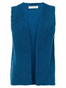 Inès & Maréchal shearling waistcoat - Blue
